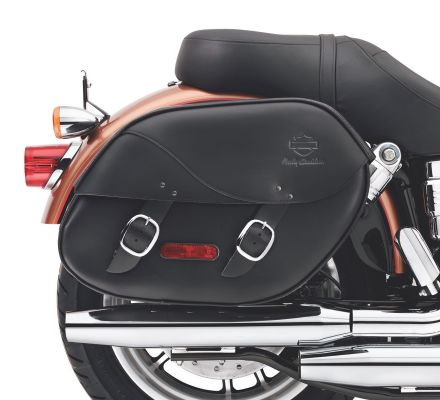 H-D Detachables Leather Saddlebags for Dyna Models, Harley-Davidson® 90181-08A