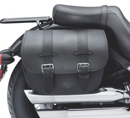 H-D Detachables Leather Saddlebags - Softail Slim and Blackline Models, Harley-Davidson® 90200353B