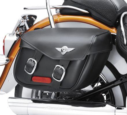 Softail Leather Saddlebags- Fat Boy Styling, Harley-Davidson® 90320-00D