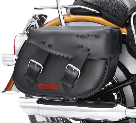 Harley-Davidson® Synthetic Leather Saddlebags for Softail Models 91537-00C