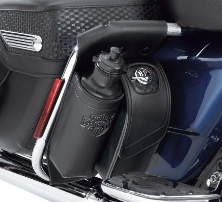 Road King Classic Concho Saddlebag Guard Bag and Water Bottle Holder, Harley-Davidson® 92137-05