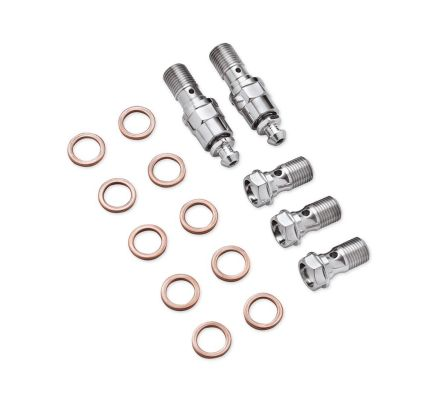Harley-Davidson® Chrome Banjo Bolt Kit 41843-08