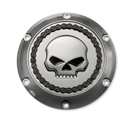 Harley-Davidson® Skull & Chain Derby Cover- Smokey Chrome 25700131