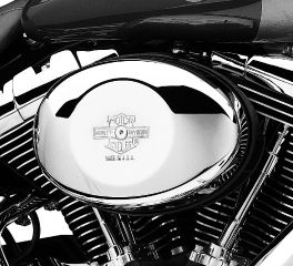 Harley-Davidson® Nostalgic Bar & Shield Air Cleaner Cover for Twin Cam Models 29765-01