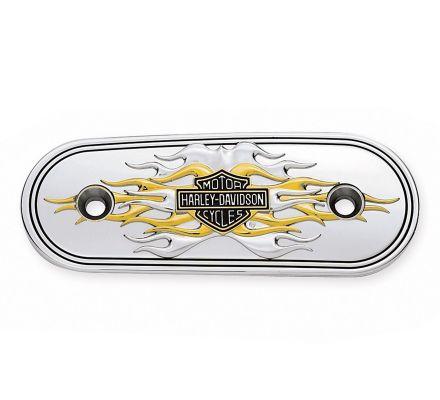Harley-Davidson® Flames Gold & Chrome Air Cleaner Trim 29824-04
