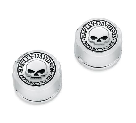 Harley-Davidson® Willie G. Skull Swingarm Pivot Bolt Cover Kit 47663-09