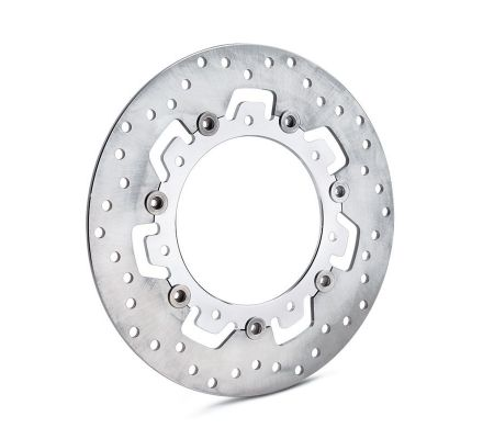 Harley-Davidson® Agitator Floating Brake Rotors- Chrome Inner Spider with Raw Stainless Outer Rotor 41500002