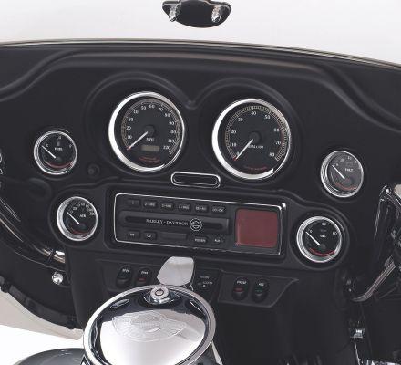 Harley-Davidson® 2 in. Gauge Bezel Cover Kit 74550-92T
