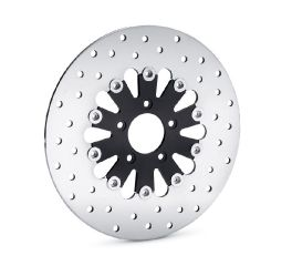 Teardrop Floating Brake Rotor- Gloss Black Inner Spider with Polished Stainless Outer Rotor