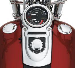 Harley-Davidson® Flush-Mount Fuel Cap and Gauge Kit 62910-06C