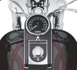 Harley-Davidson® Flush-Mount Fuel Cap and Gauge Kit 75027-08C