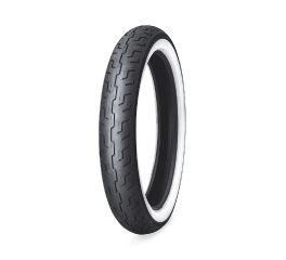 Harley-Davidson® Dunlop Tire Series- D401 100/90-19 Wide Whitewall- 19 in. Front, Dunlop 55193-10