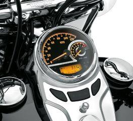 Harley-Davidson® Black Dial Analog Speedometer/Tachometer 74776-11C
