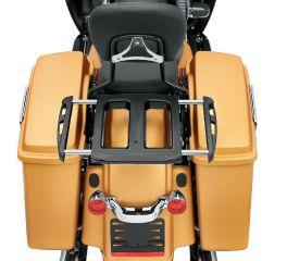 Harley-Davidson® Adjustable Two-Up Gloss Black Luggage Rack 50300076B