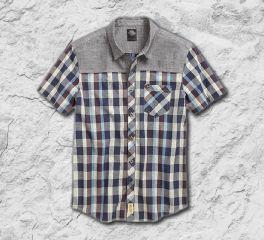 Contrast Yoke Plaid Shirt 96569-17VM
