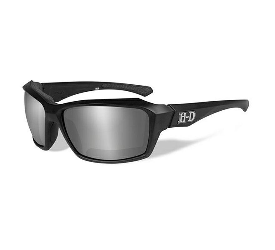 f4d870d5359 Harley-Davidson® HD Cannon Grey Silver Flash in Matte Black Frame Sunglasses