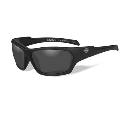 Harley-Davidson® HD Drag Smoke Grey in Matte Black Frame Sunglasses, Wiley X EMEA LLC HADRA01