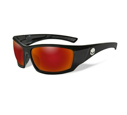 Harley-Davidson® HD TAT Red Mirror in Gloss Black Frame Sunglasses, Wiley X EMEA LLC HATAT13