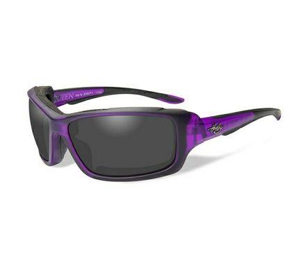 Harley-Davidson® HD Queen Smoke Grey in Matte Amethyst Frame Sunglasses, Wiley X EMEA LLC HAQUE02