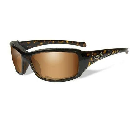 Harley-Davidson® HD Tori Bronze Flash in Tortoise Frame with Stones Sunglasses, Wiley X EMEA LLC HATOR06