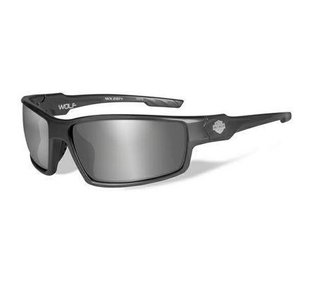 Harley-Davidson® HD Wolf Grey Silver Flash in Gunmetal Grey Frame Sunglasses, Wiley X EMEA LLC HAWOL02
