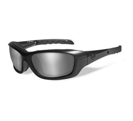 Harley-Davidson® HD Gravity PPZ™ Silver Flash in Matte Black Frame Sunglasses, Wiley X EMEA LLC HDGRA07