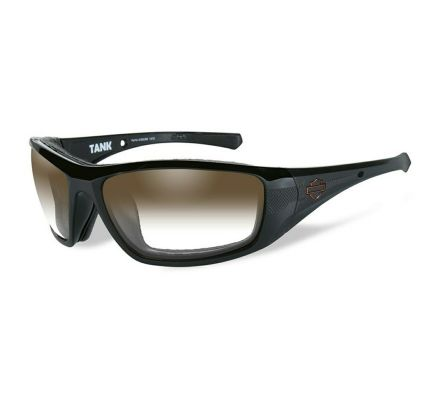 Harley-Davidson® HD Tank LA™ Brown in Gloss Black Frame Sunglasses, Wiley X EMEA LLC HDTAN08