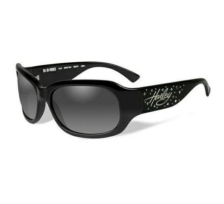 Harley-Davidson® HD Niki Grey Fade in Gloss Black Frame with Stones Sunglasses, Wiley X EMEA LLC HRNIK20