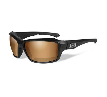 Harley-Davidson® HD Cannon Bronze Flash in Matte Black Frame Sunglasses, Wiley X EMEA LLC HACNN06