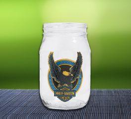 Harley-Davidson® Cocktail Drink Glass Mason Jar 96872-16V