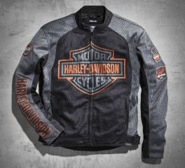 Harley-Davidson® Men's Bar & Shield Logo Mesh Jacket 98233-13VM