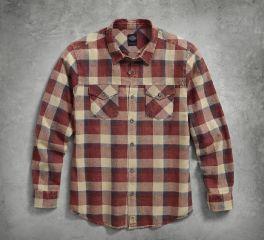 Men's Acid Wash Plaid Shirt 96567-17VM