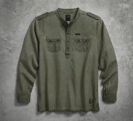Men's Band Collar Pullover Shirt 96593-17VM