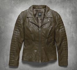 Women's Washed Goatskin Leather Jacket 97179-17VW