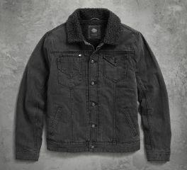 Men's Sherpa Fleece Collar Denim Jacket
