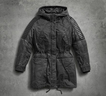 Harley-Davidson® Women's Leather Trimmed Parka 97420-17VW