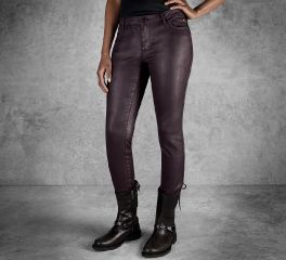 Women's Skinny Coated Mid-Rise Jeans 96125-17VW