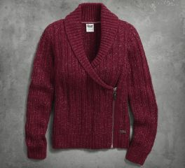 Harley-Davidson® Women's Shawl Collar Cardigan Sweater 96049-17VW