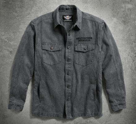 Harley-Davidson® Men's Sueded Shirt Jacket 96455-17VM