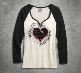 Women's Stylized Heart Raglan Tee