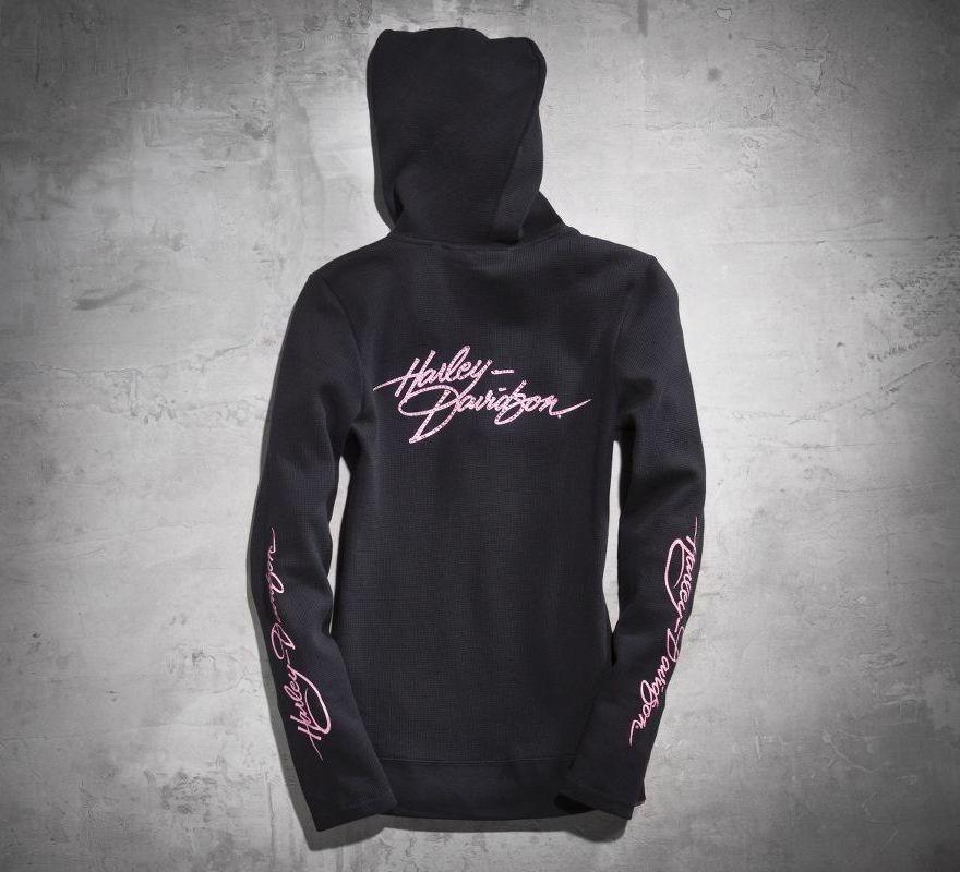 Harley Davidson 174 Women S Pink Label Activewear Hoodie