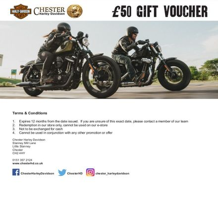 Chester Harley-Davidson In-Store Gift Voucher - £50