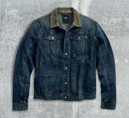 Men's Corduroy Accent Denim Trucker Jacket