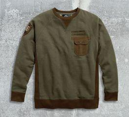 Harley-Davidson® Men's Contrast Accent Pullover Sweatshirt 96418-17VM