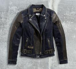 Women's Vix Denim & Leather Riding Jacket