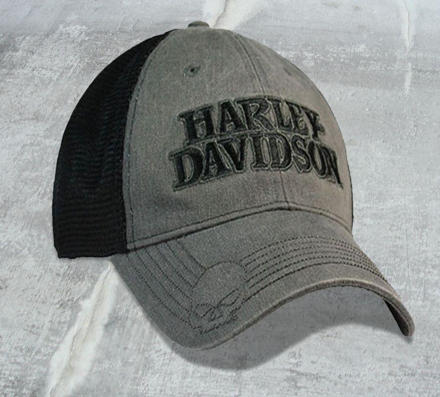 Harley-Davidson® Men s Willie G Skull Mesh Trucker Cap BCC119975 ... ebc311a745f
