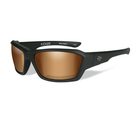 Harley-Davidson® HD Kicker Bronze Flash in Matte Black Frame Sunglasses, Wiley X EMEA LLC HAKIC06