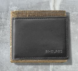 Harley-Davidson® Men's Heavy Metal HDMC Classic Billfold Leather Wallet, Leather Accessory Source MC8514L