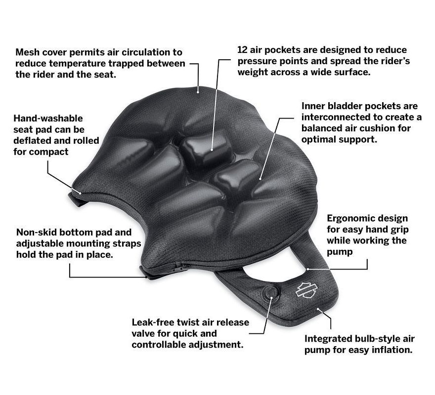 Ultimate Motorcycle Seats >> 52000327 | Harley-Davidson® Road Zeppelin Seat Pad - Rider ...