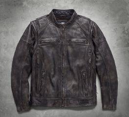 Harley-Davidson® Men's Dauntless Convertible Leather Jacket 98133-17VM